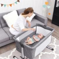 Baby joy Portable Baby Bed Side Sleeper Infant Travel Bassinet Crib W/Carrying Bag Grey