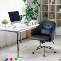 Costway Office Chair Task Desk Swivel Adjustable Height w/ Massage Lumbar Support BlueGreen - 1 unit