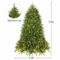 Costway 7.5ft Pre-lit PVC Christmas Fir Tree 8 Flash Mode - 1 unit