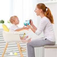 Babyjoy 3 in 1 Convertible Wooden High Chair Baby Toddler Highchair w/ Cushion - 1 unit