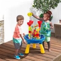 Gymax 2 in 1 Sand and Water Table Activity Play Center Kids Beach Toy Set - 1 unit