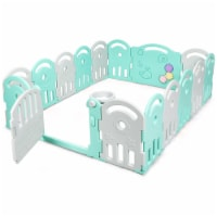 Gymax Baby Kid Playpen Activity Center Safety Play Yard w/ Music Box - 1 unit
