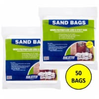 Halsted White Woven Sand Bags with Tie String - 50 pk / 15 x 27 in