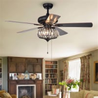 Warehouse of Tiffany CFL-8306 52.4 in. Chrysaor Indoor Remote Controlled Ceiling Fan with Lig - 1
