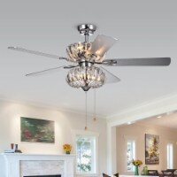 Warehouse of Tiffany CFL-8315CH 52 in. Kyana Indoor Remote Controlled Ceiling Fan with Light - 1