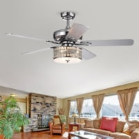 Warehouse of Tiffany CFL-8333REMO 52 in. Davrin Indoor Remote Controlled Ceiling Fan with Lig