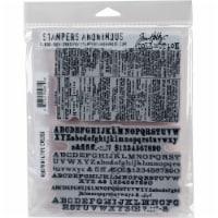 Tim Holtz Cling Stamps 7 X8.5 -Newsprint & Type - 1
