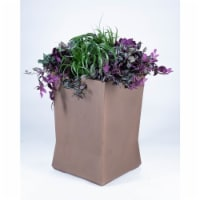 Commercial Zone 724365 18 x 18 x 28 in. Medium Planter, Old Bronze