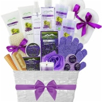 Grapeseed & Lavender Deluxe XL Gourmet Spa Gift Basket  Luxury Bath & Body Gift Set - 1