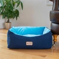 C09HSL-TL Armarkat Pet Bed Cat Bed 18 x 14 x 8 - Navy Blue & Sky Blue - 1