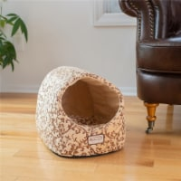 C11HYH-MH Armarkat Cat Bed with Flower Pattern, Beige C11HYH-MH - 1