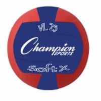 Rhino Skin Soft Fabric Volleyball, Red & Blue
