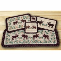Wicker Weave Placemat, Moose and Pinecone - 1