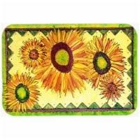 15 x 12 in. Flower Sunflower Glass Cutting Board, Large