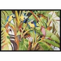 Three Blue Parrots Indoor & Outdoor Mat, 24 x 36 in. - 1