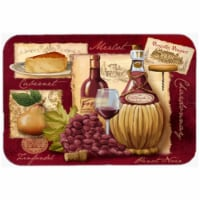 Wine And Cheese Glass Cutting Board, Large