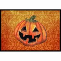 18 x 27 in. October Pumpkin Halloween Indoor Or Outdoor Mat