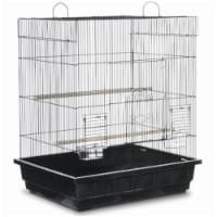 PP-25212-B Square Roof Parakeet Cage - Black