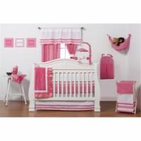 Simplicity Hot Pink Infant 3 Piece Crib Bedding Set - 3
