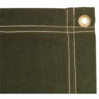 4 x 6 ft. Canvas Tarp - Olive Drab - 1