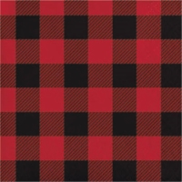 Group  12 by 16 Count Buffalo Plaid 2 Ply Beverage Napkins - Case of 12 - 12