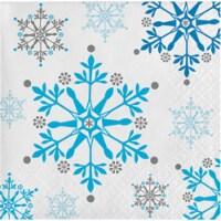 Group  2 Ply Snowflake Swirls Beverage Napkin, Pack of 12 - 16 Per Pack - 12