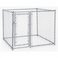 Galvanized Chain Link Kennel with PC Frame, 4 H x 5 W x 5 L ft.