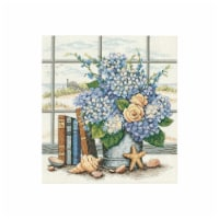Hydrangeas And Shells Counted Cross Stitch Kit-11''X12'' 14 Count