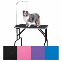 Grooming Table with 36 In Arm 30x18 In Purple S