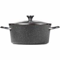 7.2-Quart Stock Pot with Lid, Black