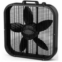 B20401 20 in. Black Box Fan With 3 Quiet Speeds