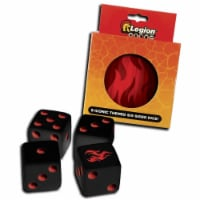 16 mm Iconic D6 Dice Tins, Fire - Set of 9