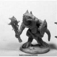 25mm Scale Lizardman with Club & Shield - Gene Van Horne - 1