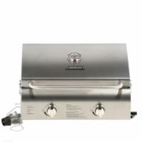 Chefs Style Stainless Tabletop Grill - 2 Burner