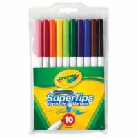 Crayola Super Tip Non-Toxic Washable Marker Set, Set 10