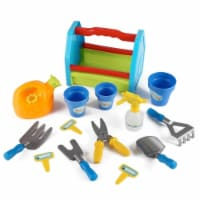 Azimport PS391 Rainbow Gardening 14 Piece Box Tools Toy Set for Kids