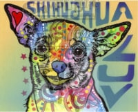 Chichuahua Luv Rubber Stamp Dean Russo - 1