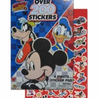 Mickey Mouse 803692 Disney Mickey Mouse 4 Sheet Foil Cover 200Plus Stickers - 1