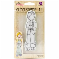 Prima Marketing Julie Nutting Mixed Media Cling Rubber Stamp-Toby - 1