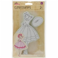 Prima Marketing Julie Nutting Mixed Media Cling Rubber Stamp-Audrey - 1