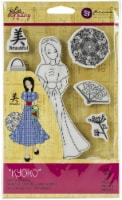 Prima Marketing Julie Nutting Mixed Media Cling Rubber Stamp-Kyoko - 1