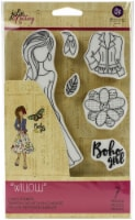 Prima Marketing Julie Nutting Mixed Media Cling Rubber Stamp-Willow - 1