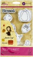 Prima Marketing Julie Nutting Mixed Media Cling Rubber Stamp-Autumn Hugs - 1