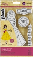 Prima Marketing Julie Nutting Mixed Media Cling Rubber Stamp-Melissa - 1