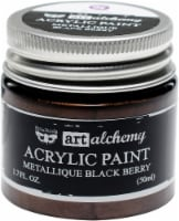 Finnabair Art Alchemy Acrylic Paint 1.7 Fluid Ounces-Metallique Black Berry - 1