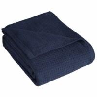 Elite Home 90 x 90 Inch Grand Hotel Cotton Throw Blanket, Full/Queen, Navy Blue - 1 Piece