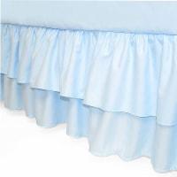 American Baby Company Double Layer Ruffled Crib Skirt - Blue - 1 ct