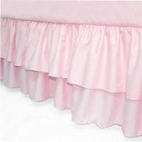 American Baby Company Double Layer Ruffled Crib Skirt - Pink