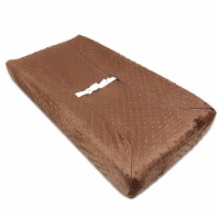 American Baby Company Heavenly Soft Minky Dot Fitted Contoured Changing Pad Cover - Chocolate Puff