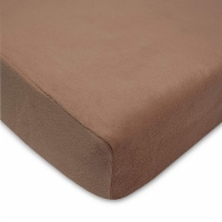 American Baby Heavenly Soft Chenille Crib Sheet - Chocolate